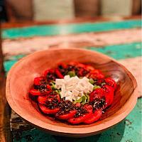 Salad tomato feta