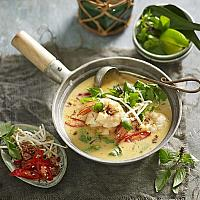 Green curry with shrimp