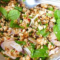 Laab Moo or Kai (Pork or chicken)