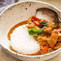 Paneng curry chicken with rice