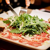 CARPACCIO Beef with Rucola & Parmesan Cheese