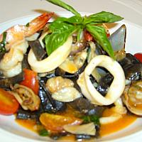 Black ink Fettuccine Seafood