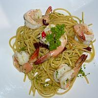 Spaghetti A.O.P. with Prawn