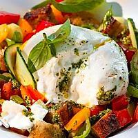 Panzanella Burrata Salad