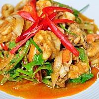 Stir Fried Seafood in Curry Powder