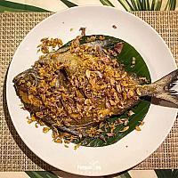 deep fried fish with garlic