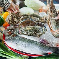 Grill seafood set XL เซ๊ตอาหารทะเลย่าง XL