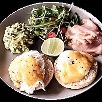 Eggs Benedict with Salmon & Avocado