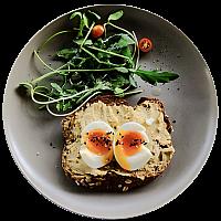Hummus & Egg on Toast
