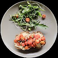 Hummus & Tomato on Toast