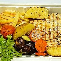 Grilled Chicken Breast with Black Pepper sauce