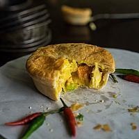 Chicken Yellow Curry Pie