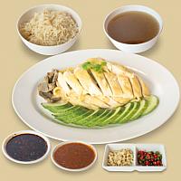 Set Boiled Chicken Rice/ เซ็ทข้าวมันไก่ต้ม (L)
