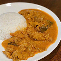 Phanang Curry Chicken or Pork with Rice