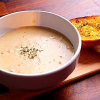 Mushroom Cream Soup with Bread