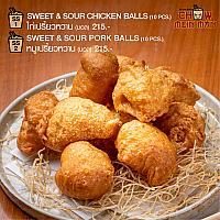 SWEET & SOUR CHICKEN BALLS (10 PCS)