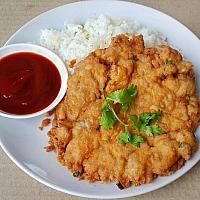 Minced Pork Omelette Rice