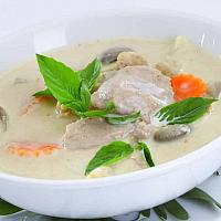 Tom yam soup with chicken