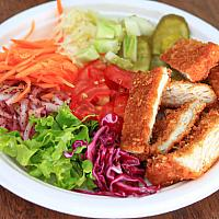 Schnitzel Plate with fries or rice