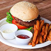 Hot Point Wagyu Beef Burger with French Fries