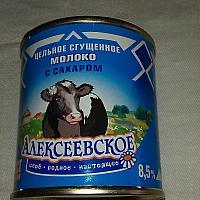 Молоко сгущ.Алексеевское 340грамм