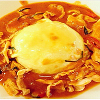 Omelet with Penang Curry chicken