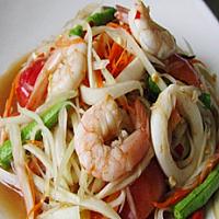 Thai Papaya Salad Seafood