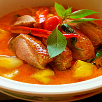 Roasted Duck Breast Red Curry