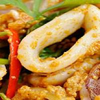 Stir-Fried Squid Curry Powder