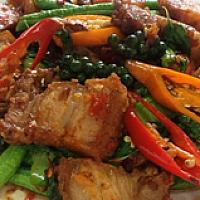 Phad Khi Mao Crispy Pork