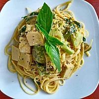 Spaghetti green curry