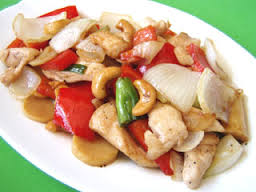 Stir Fried Cashewnuts with Prawns or Seafood