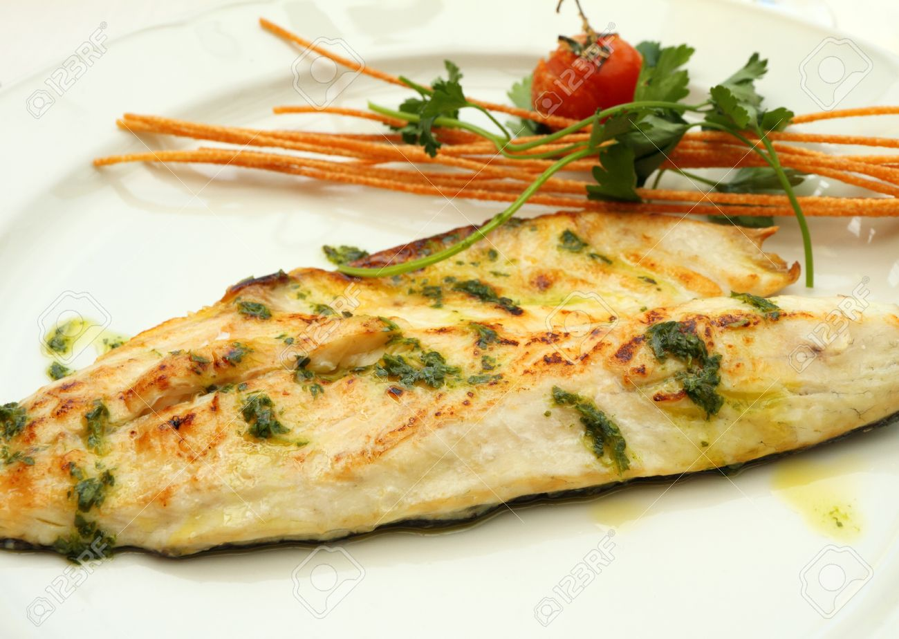 Grilled Fish Fillet with Garlic