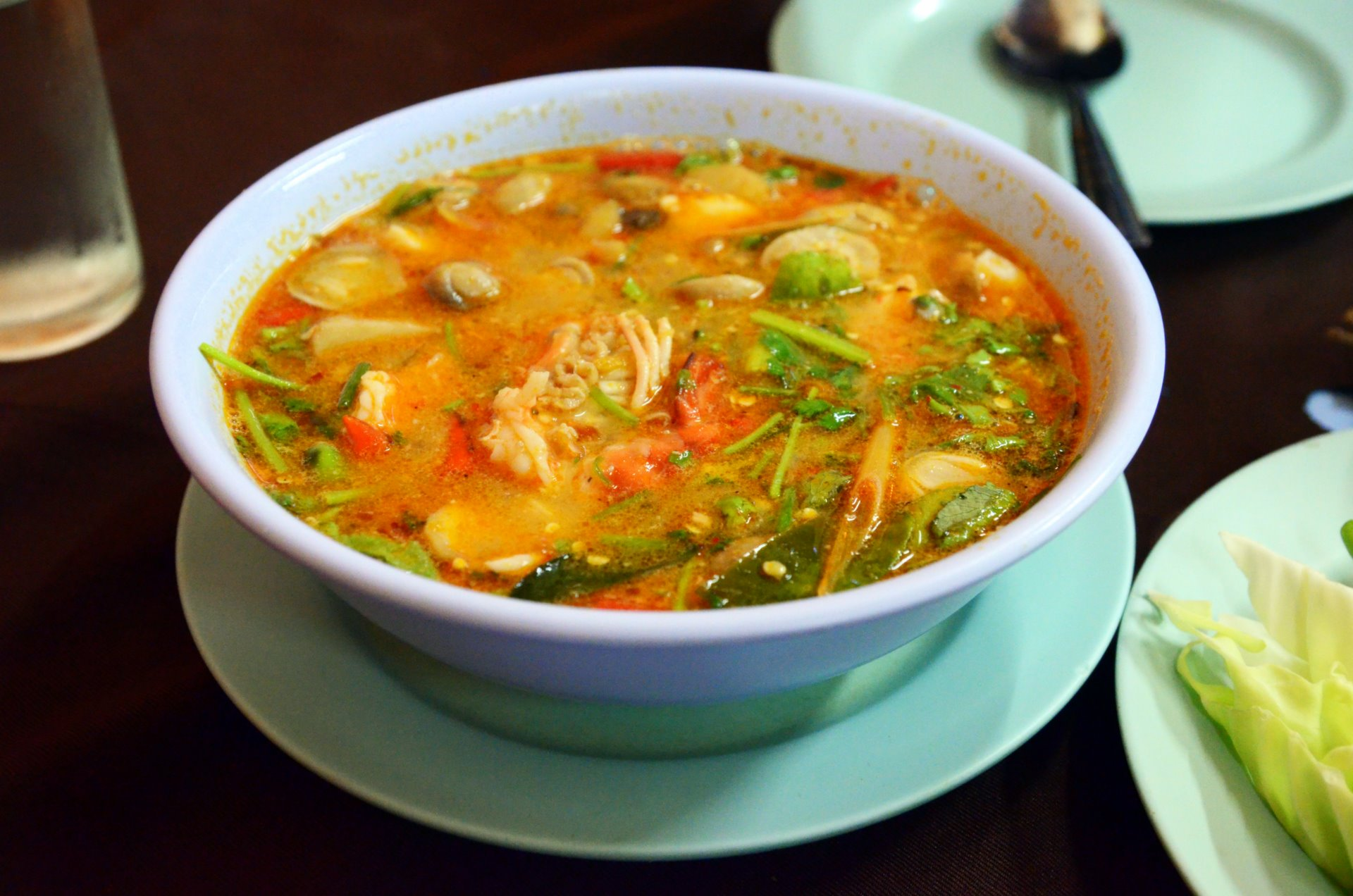 Tom Yam with Seafood