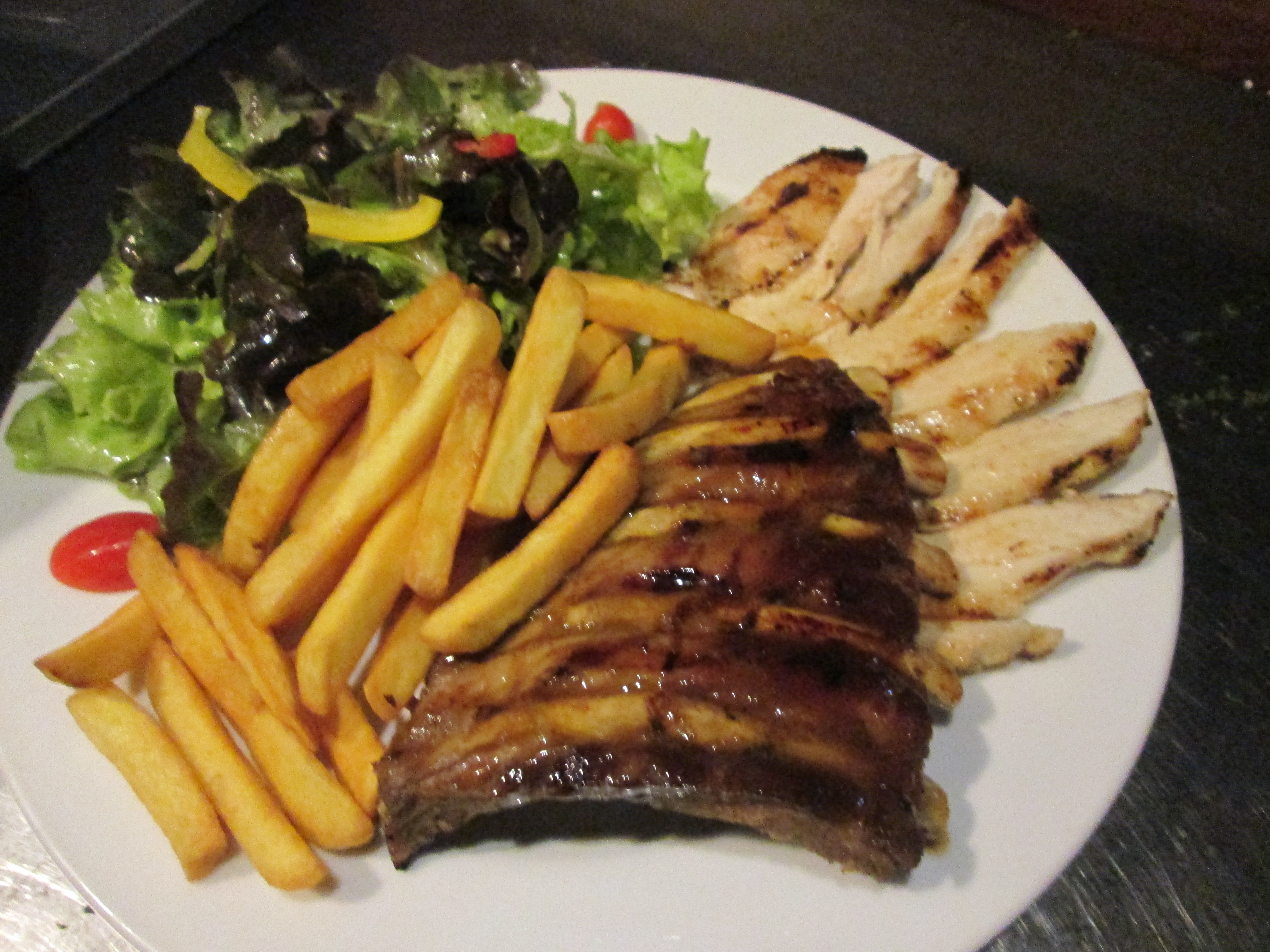 CHICKEN & RIB COMBO (GREAT FOR 2)