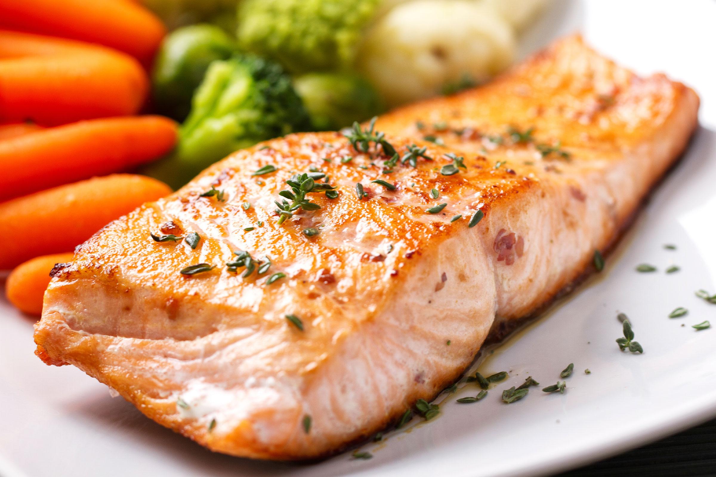 Salmon Steak /Стейк лосося обжаренный  с терияки соусом