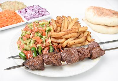 BBQ kebab 3 skewers