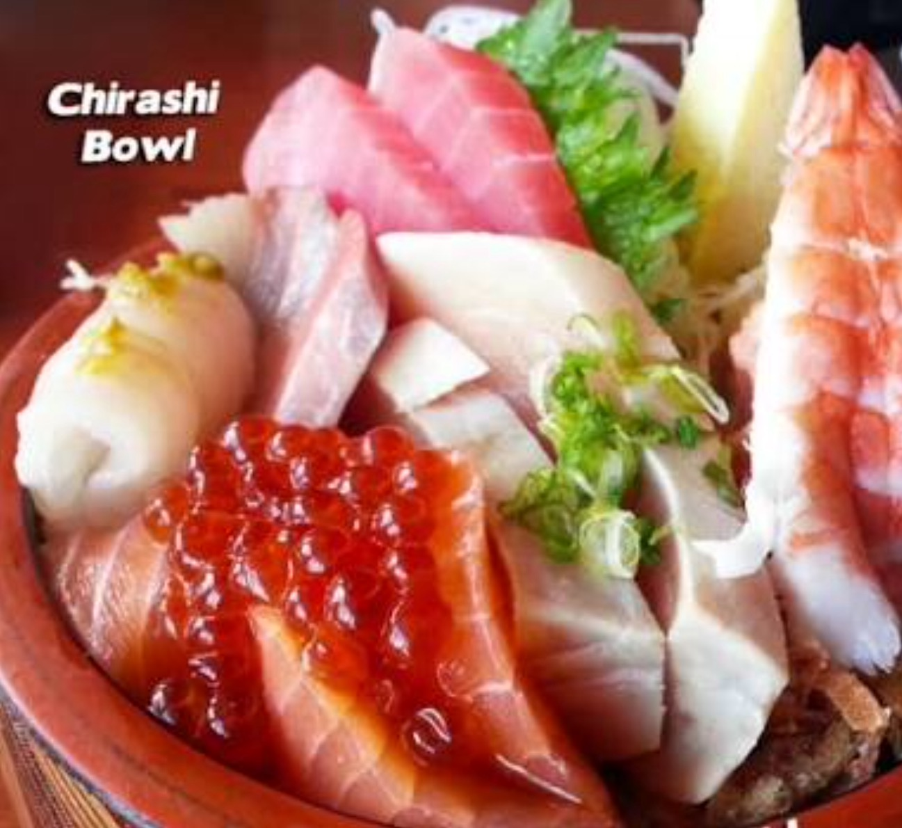Chirashi salmon / tuna / shrimp