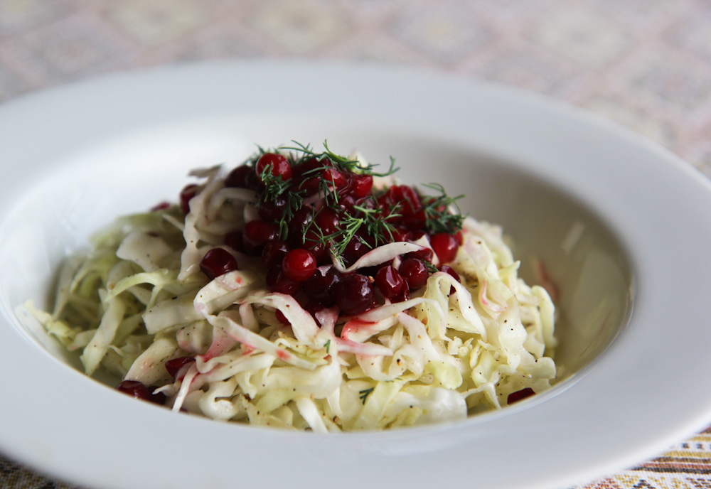 Cabbage Salad with cranberry