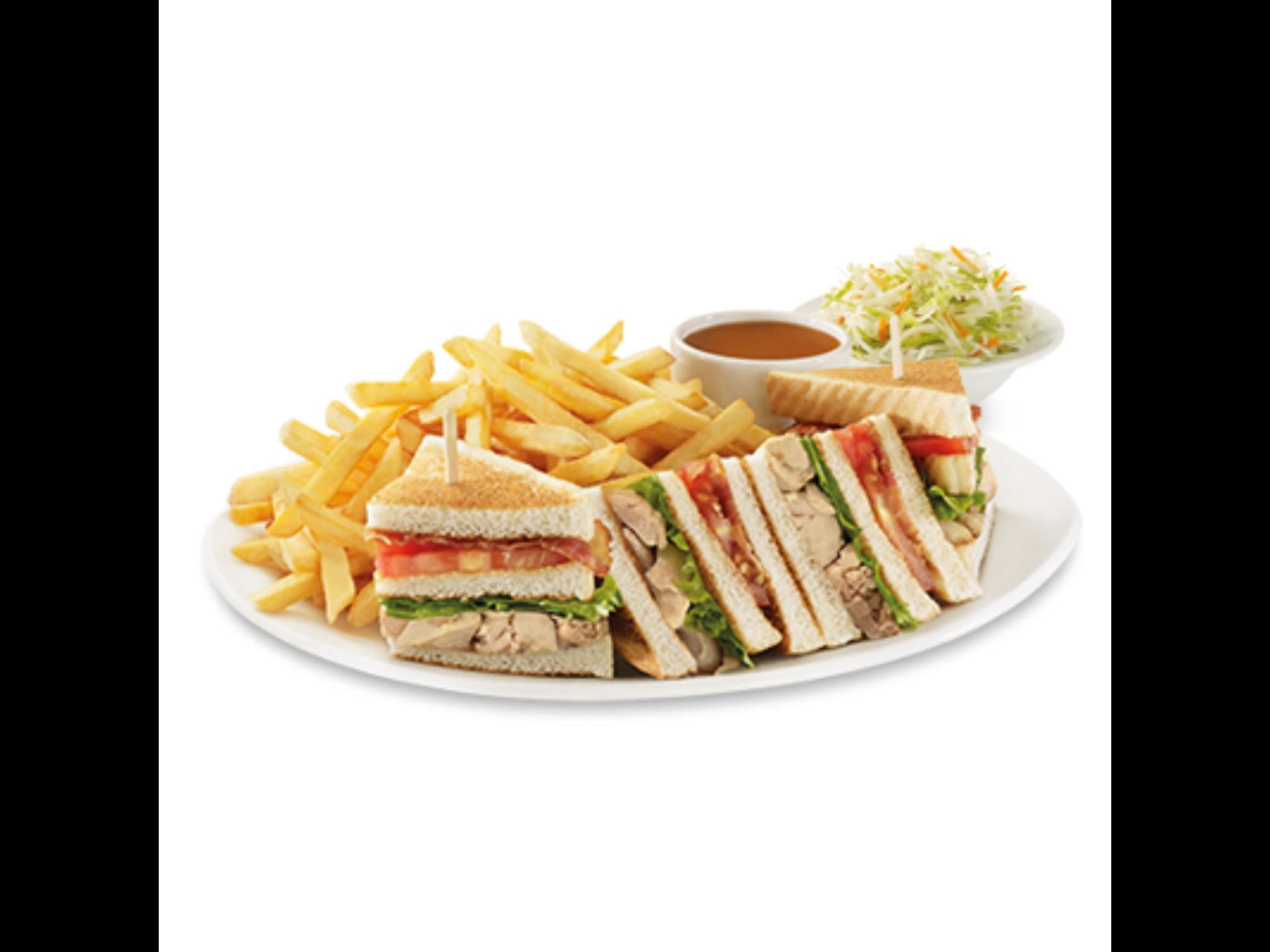 Club sandwich & French fries