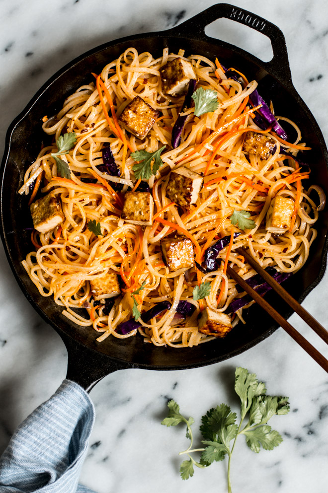 Chow Mein noodles with tofu