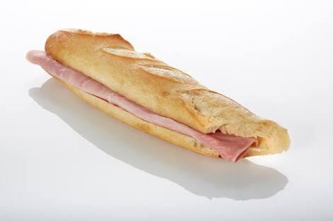 sandwich baguette ham