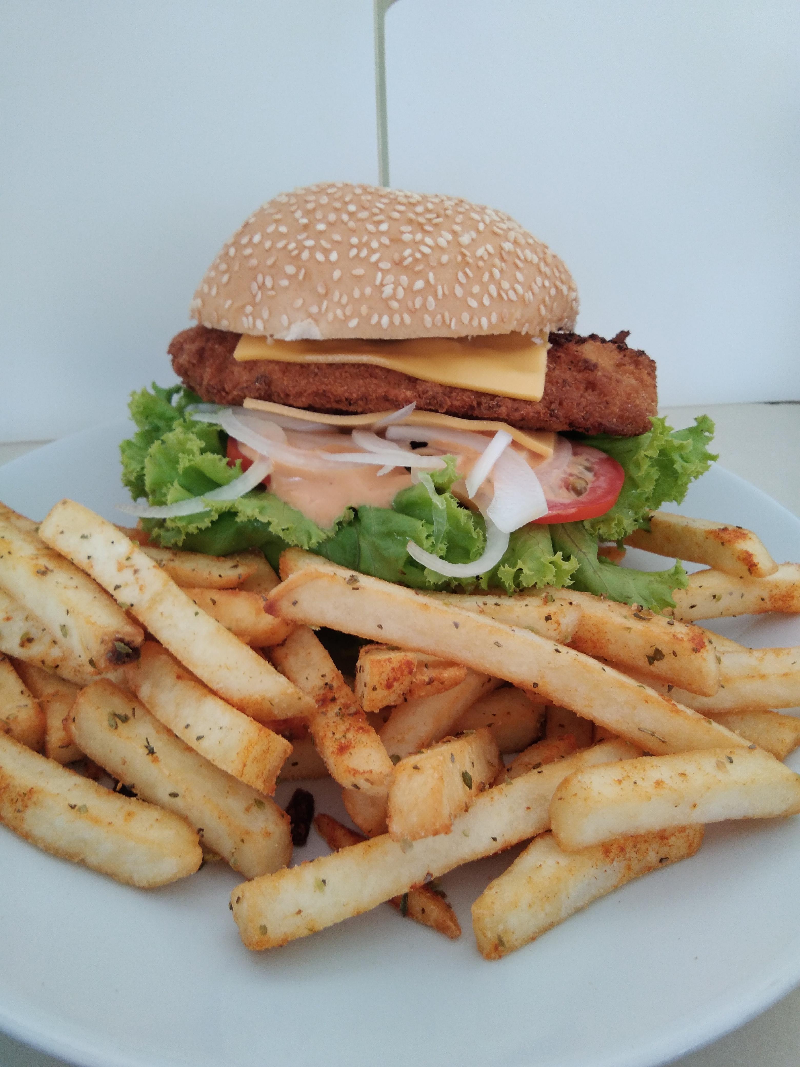 House chicken burger