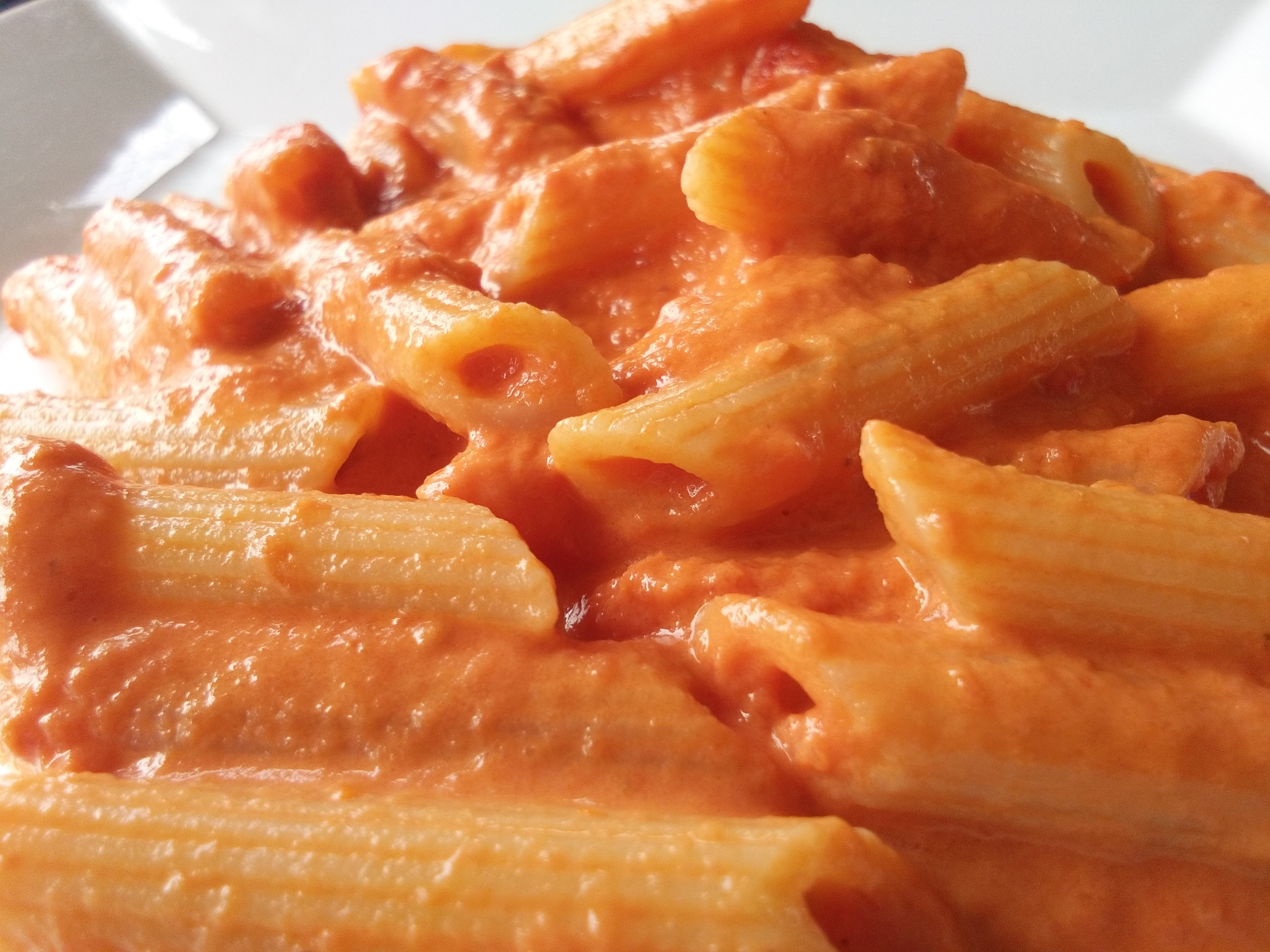 Penne in pink sauce