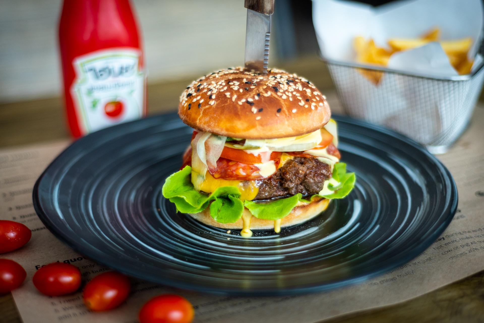 Classic wagyu beef burger