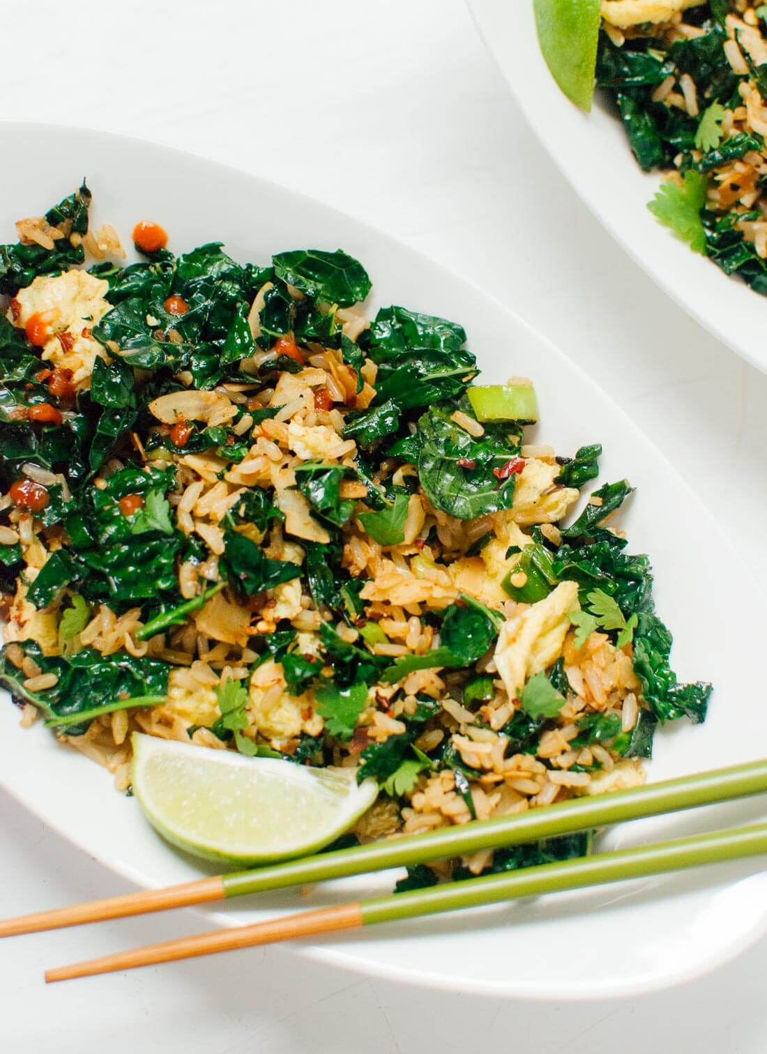 Stir Fried Kale Chicken