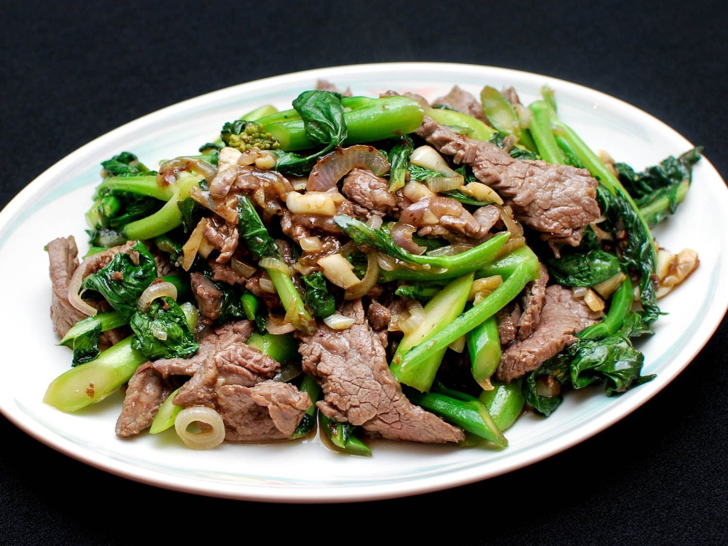 Stir Fried Kale Beef