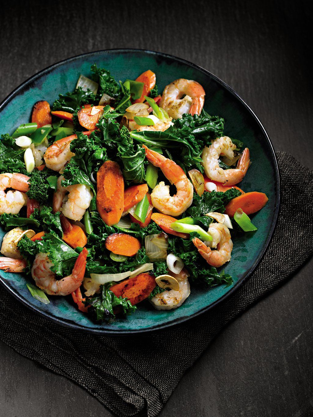 Stir Fried Kale Seafood