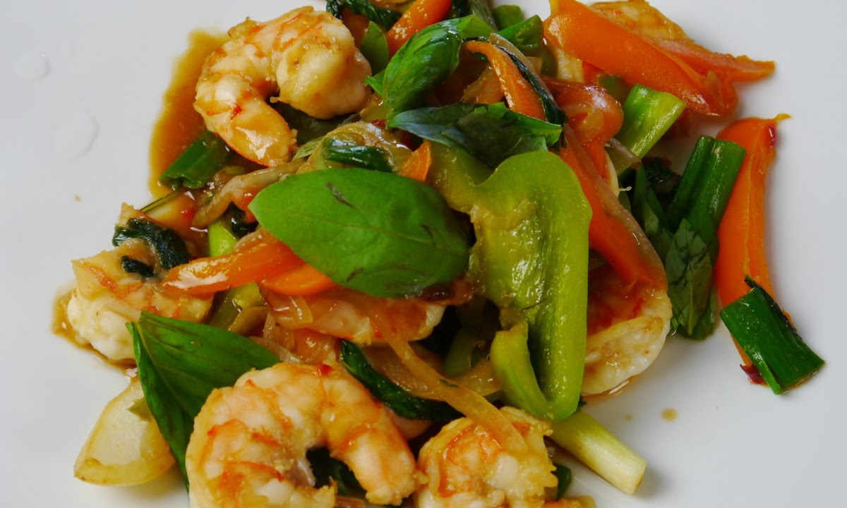 Stir Fried Vegetable Shrimp