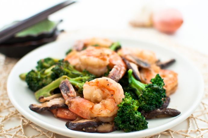 Shiitake and Vegetable with Shrimp